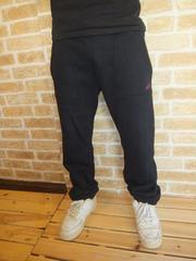 【TOMMY】極厚リブ&筆記体刺繍スウェットパンツ黒M♪トミーチャンピオン