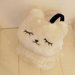 新品タグ付き ネコ イヤーマフラー ホワイト