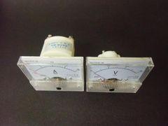 /直流電圧計30V アナログメーター直流電流計20A DC バッテリー