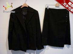 アンタイトル スカートスーツ 2 レディース 黒 巻きスカート