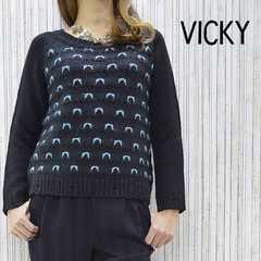 ★新品★VICKYビッキー高品質大人可愛いバルキーニットセーター