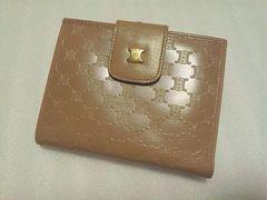 CELINEセリーヌ☆二つ折り財布 がま口 マカダム柄 ローアンバー 未使用品