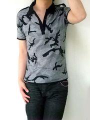迷彩デザインポロシャツM(新品)※2点送料無料