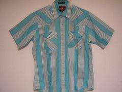 即決USA古着鮮やかデザイン半袖シャツ!ビンテージレア