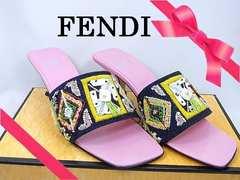 正規品☆フェンディ ビーズ刺繍 サンダル ミュール 35ハーフ 新品★dot