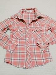子供服140♪ピンク♪ネルシャツ♪