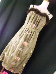OzzOn激レアレース花柄刺繍ショルダーワンピース