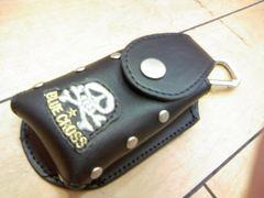 値下げ激安処分ブルークロス新品スカル限定合皮携帯ケース