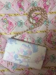 セシル、財布ポシェット、花柄ピンク