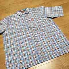 ecko-unltdエコー半袖チェックシャツロゴ刺繍サイズXL→XXL