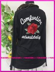 冬新作◆大きいサイズ3Lブラック◆背中薔薇刺繍◆カットソー