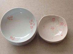 クローバー柄中鉢&桜柄小鉢 6枚セット