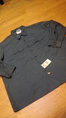 Dickiesディッキーズ長袖ワークシャツ チャコールグレー サイズ3XL 19×35
