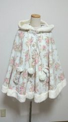 LIZ LISA/起毛/ポンチョコート/ポンポン/花柄/激安/オススメ(*^^*)