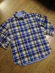 美品SHAGGY リバーシブルチェックシャツ チャオパニック