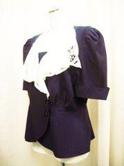 【ビクトール】白衿付きネイビーの半袖ジャケットです