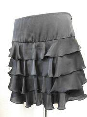 【ピンキーガールズ】黒のティアードミニスカートです