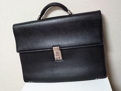 正規 VERSACE ヴェルサーチ ビジネスバッグ黒 ブリーフケース 書類鞄 ダイヤル