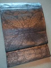 薄銀箔*更紗華袋帯正絹ナゴヤチョー美品レタP