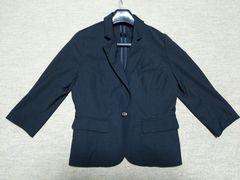 ダブルネーム★七分袖ジャケット★薄手ブラック黒フォーマル