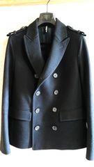 国内正規 レア 良品 ディオールオム メルトン Pコート黒 最小38 Dior Homme