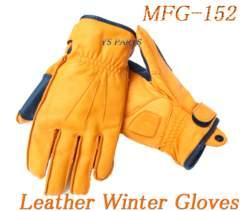 新品モトフィールドMFG-152透湿防水フィルム内蔵防寒レザーウインターグローブ 橙WM