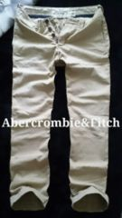 【Abercrombie&Fitch】アバクロ Vintage スリムストレート チノパンツ 32/Khaki