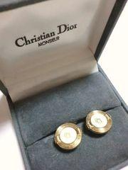 クリスチャンディオール/Dior ロゴプレートゴールドカフス