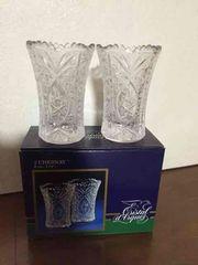 送料込み フランス製 花瓶 フラワーベース 2個セット