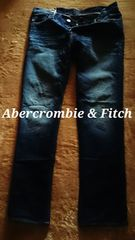 【Abercrombie&Fitch】Vintage Washed スリムストレートジーンズ 33/M.Wash