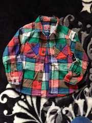 エフォーキッズ!マルチカラーチェックシャツ110センチ美品