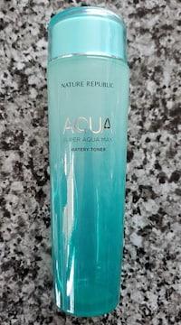 モバオクで買える「【化粧水★空ボトル】詰め替え用に♪夏らしいブルーボトル♪」の画像です。価格は80円になります。
