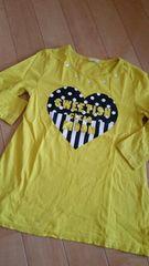 150  黄色PONOPO  七分袖Tシャツused