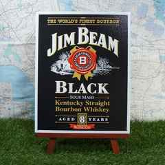 ★新品★【ブリキ看板】Jim Beam/ジム・ビーム 黒ラベル