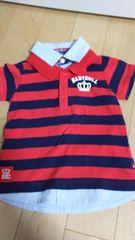 ベビードールBABYDOLL ボーダーシャツ 100