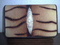 ◆◆エイ革◆スティングレイ◆◆三つ折り財布◆未使用品◆◆