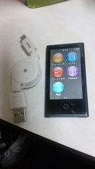 アップル iPod nano 16GB 第7世代 ブラック USB充電ケーブル付き