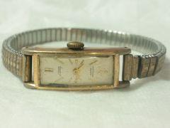 2542復活祭★超ビンテージ☆100年前14Kブレスレット型レディース腕時計素敵