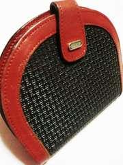 バリー/BALLY ロゴ型革製二つ折り財布(黒)