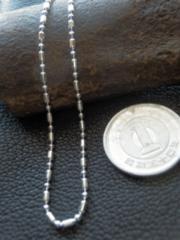 イタリア製シルバー 925チェーン 1.5mm40cm 3.1g *bead1+1/150