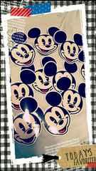 ミッキーマウス顔シールまとめ売り10枚