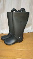 W5未使用クロックス レインブーツ長靴 黒