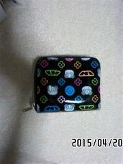 定形外込*ラバーズハウス*マルチカラーモノグラム柄二つ折り財布