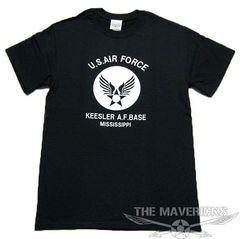 USAFエアフォースTシャツ・黒白XL・新品/米軍ミリタリー