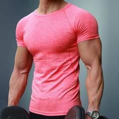 メンズ 半袖 フィットネス スポーツトレーニング Tシャツ