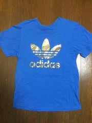 アディダスオリジナルadidas半袖Tシャツ水色