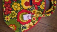 新品未使用タグ付き限定レトロ花柄ベルベットフェルトトートバッグ