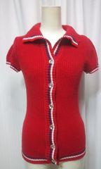CECILMcBEEセシルマグビーの赤いセーターキラボタン(A01