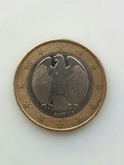 ドイツ 2002年 1ユーロ硬貨 通常コイン 鷲 流通品