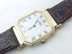 2508復活祭★aramis☆お洒落スクエアケースクロコ型押しメンズ腕時計